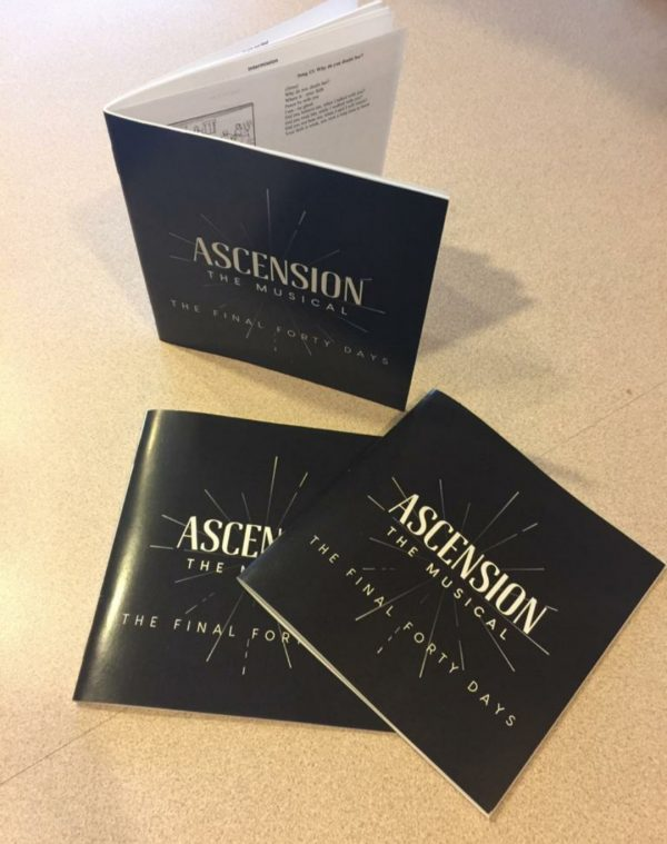 Ascension the Musical lyrics and storyboard booklets